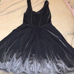 ModCloth Velvet Blue Dress